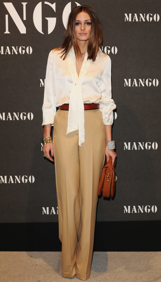 Olivia Palermo with her boyfriend Johannes Huebl attends the Mango fashion show